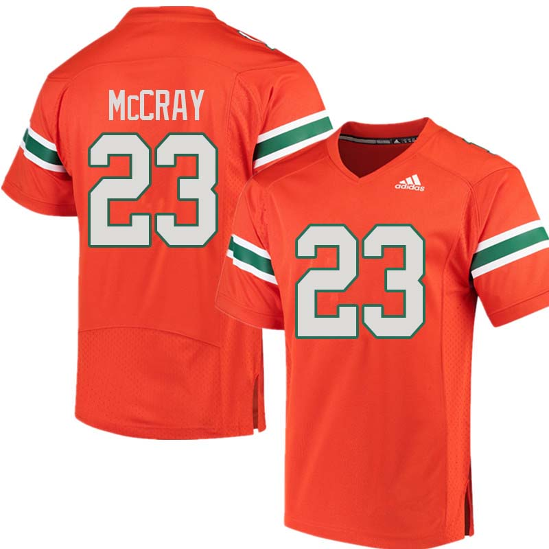 Adidas Miami Hurricanes #23 Terry McCray College Football Jerseys Sale-Orange